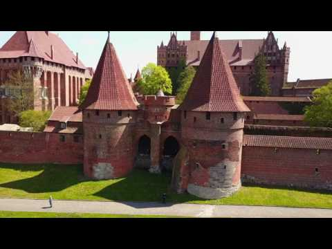 Poland 4K - Beautiful Amber City Gdansk + Malbork Castle Drone Video. Dji Mavic Pro