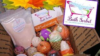 Bath Sorbet FALL Subscription Box UNBOXING! Autumn Bath Goodies!