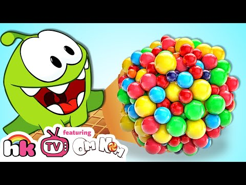 OM NOM vs GIANT CANDY | Cut The Rope | Funny Cartoons Compilation for Babies by HooplaKidz TV