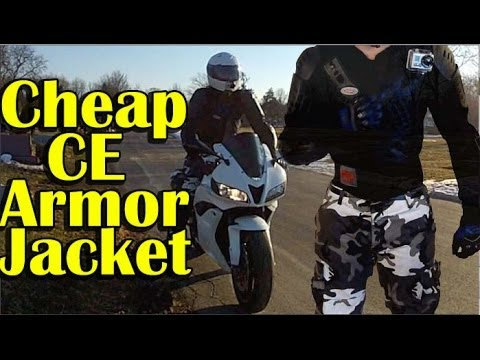 CHEAP Full Body CE Armor Jacket Review - Urban Motorcycle Gear - Perrini Armor Ja