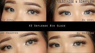 REVIEW Soflens X2 Bio Glaze & TES PAKAI SEHARIAN || cocok untuk pemula ?!