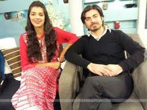 Fawad Khan & Sanam Saeed Funny Parts of the interviews.