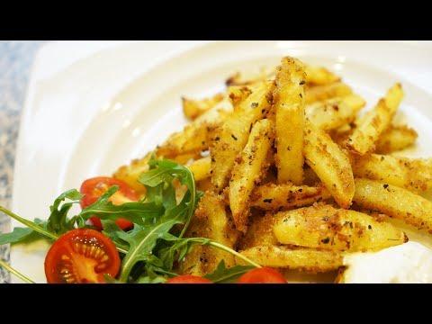 Запеченный картофель в панировке с пряностями. Очень вкусно!