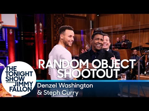 Random Object Shootout with Denzel Washington and Steph Curry