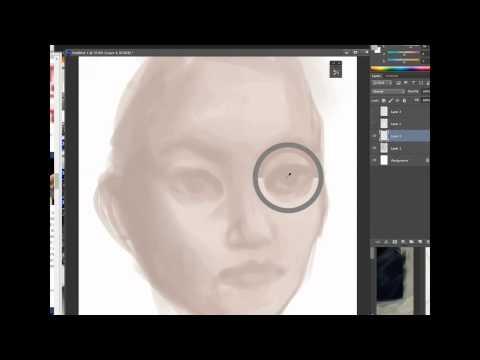 Digital Speed painting : Portrait ( Laureline )