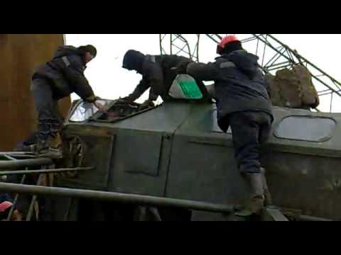 Падение кранов Северное Хоседаю 300км от Усинска