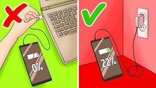 12 Erreurs Que tu Fais Quand tu Charges Ton Portable