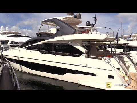 2019 Astondoa 66 Fly Bridge Luxury Yacht - Deck Interior Walkaround - 2018 Fort Lauderdale Boat Show