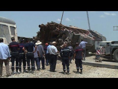 Mortal choque de tren con camión en Túnez