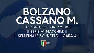 Serie A1M [Semifinale G3]: Bolzano - Cassano Magnago 34-25