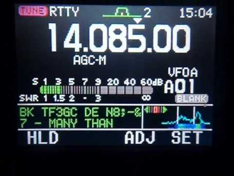 Icom IC-7000 RTTY Decoder