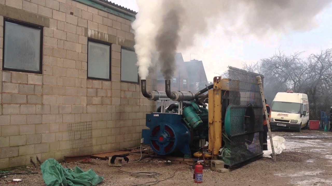 500kva Cummins Diesel Generator Set Cold Start Backfire