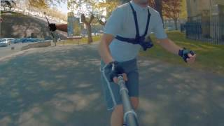 Inline skating - Urban cruise with a gimbal (Seba GT 3x110)