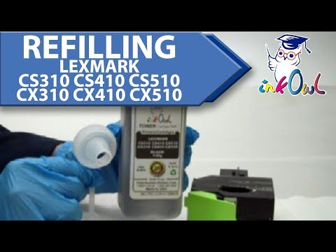 How to Refill LEXMARK CS310. CS410. CS510. CX310. CX410. CX510 Cartridges