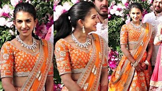 Ambani Family Choti Bahu Radhika Merchant Looks Beautiful At Akash Ambani - Shloka Mehta Wedding