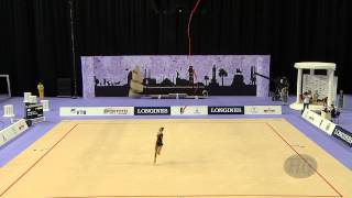 RIZATDINOVA Ganna (UKR) - 2014 Rhythmic Worlds, Izmir (TUR) - Qualifications Ribbon