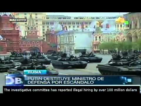 Putin dismisses defense minister amid corruption scandal