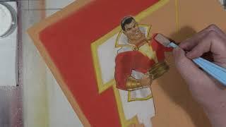SHAZAM! Speed art & Movie review