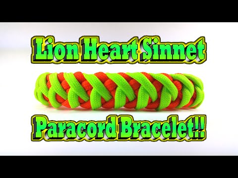 How to make a Paracord Modified Lion Heart Sinnet Bracelet With Buckle