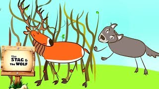 Stag And The Wolf | Stories For Babies | Videos For Children