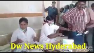 Nurse giving Injection to Patient's in Government Hospital in Front of Everyone