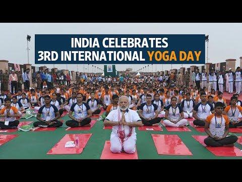 India celebrates 3rd International Yoga Day