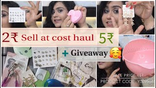 Sell At Cost haul & Review - starting from 1rs + Giveaway  II Cheapest haul ever II  part-1