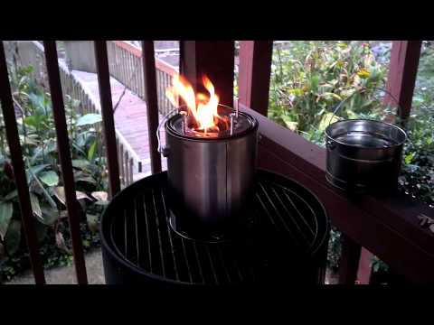 Gasifier cookstove from two paint cans