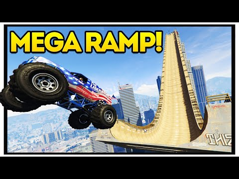 BIGGEST GTA 5 MEGA RAMP!! GTA 5 Mods Showcase : Episode 29