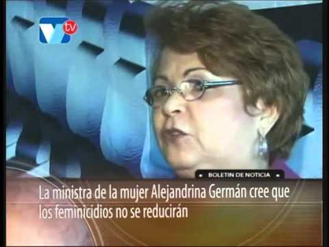 La ministra de la mujer alejandrina german cree que los feminicidios no se reduciran