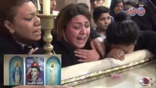 Funeral of 10 year old Coptic Christian 'Mina Maher' killed by Islamists in Cairo on 25 Jan 2015