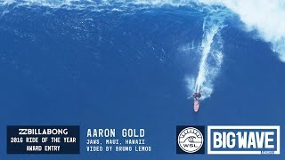 Aaron Gold at Jaws  1  - 2016 Billabong Ride of the Year Entry - WSL Big Wave Awards