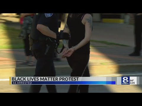 Black Lives Matter protest- 16  arrested