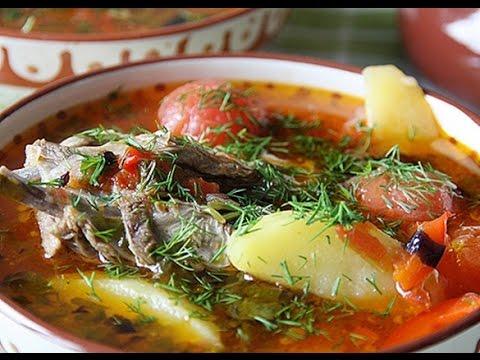 Ароматный суп-Шурпа из молодой баранины по -узбекски(Soup with lamb)