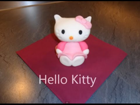 hello kitty figur aus fondant youtube