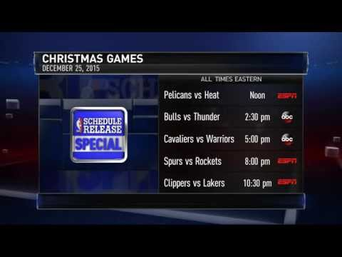 NBA Unveils Christmas Day Schedule 2015