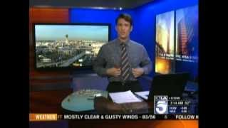 KTLA - Jim Castillo 1st Time doing Morning Traffic (03-28-12)