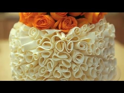 Cake Decoration - How To Make White Chocolate Curls