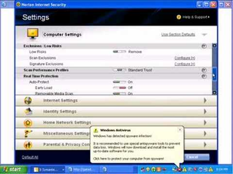Norton Internet Security 2009 Review Part 4
