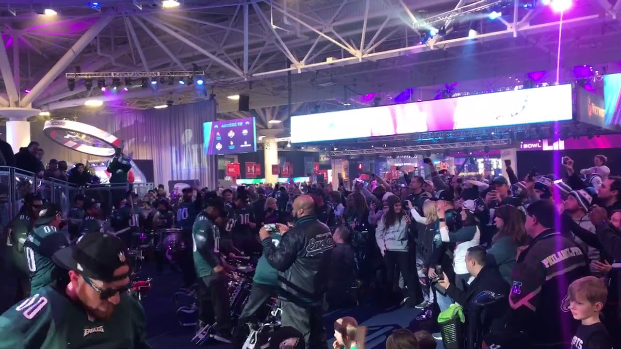 Eagles fans at Super Bowl Experience