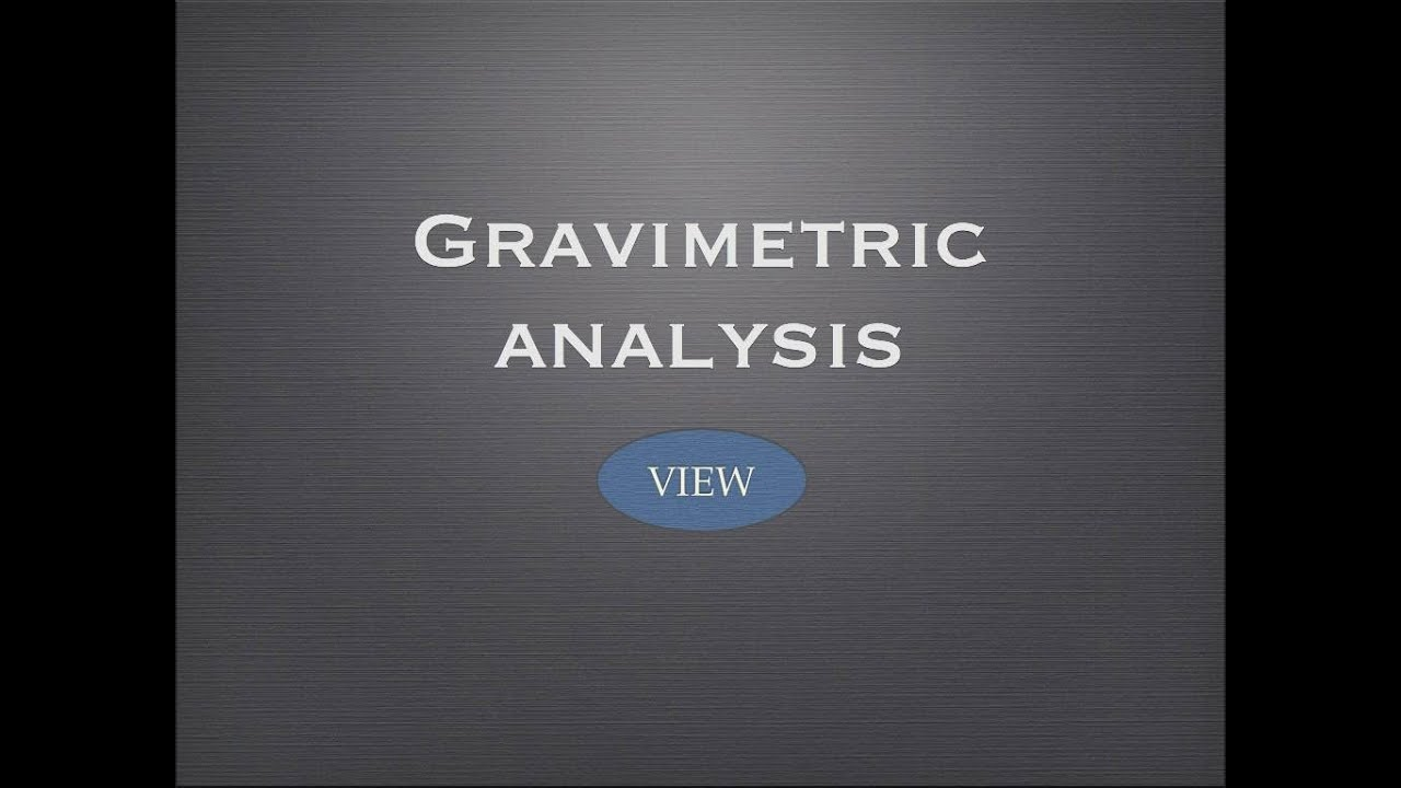 gravimetric analysis of a salt Chem 225 laboratory gravimetric determination of nickel experimental procedure instructor: dr audra goach sostarecz 302 ht 309-457-2252 summary in this lab, you will be precipitating nickel (ni 2+) from an.