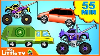 Cars and Trucks For Kids | Learn Street Vehicles | Car Wash Videos for Children