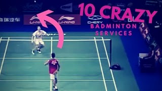 10 CRAZY BADMINTON SERVICES ... AND FAIL !