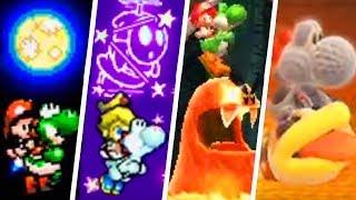 Evolution of Secret Final Levels in Yoshi Games (1995 - 2019)
