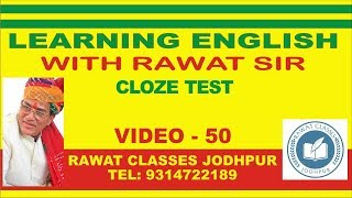 Learn English | Learning English | Cloze Test