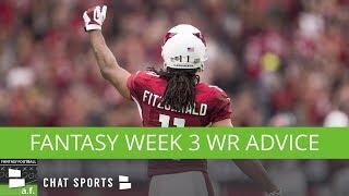 Fantasy Football Rumors: Larry Fitzgerald Week 3 Status, Antonio Callaway Startable Flex Option