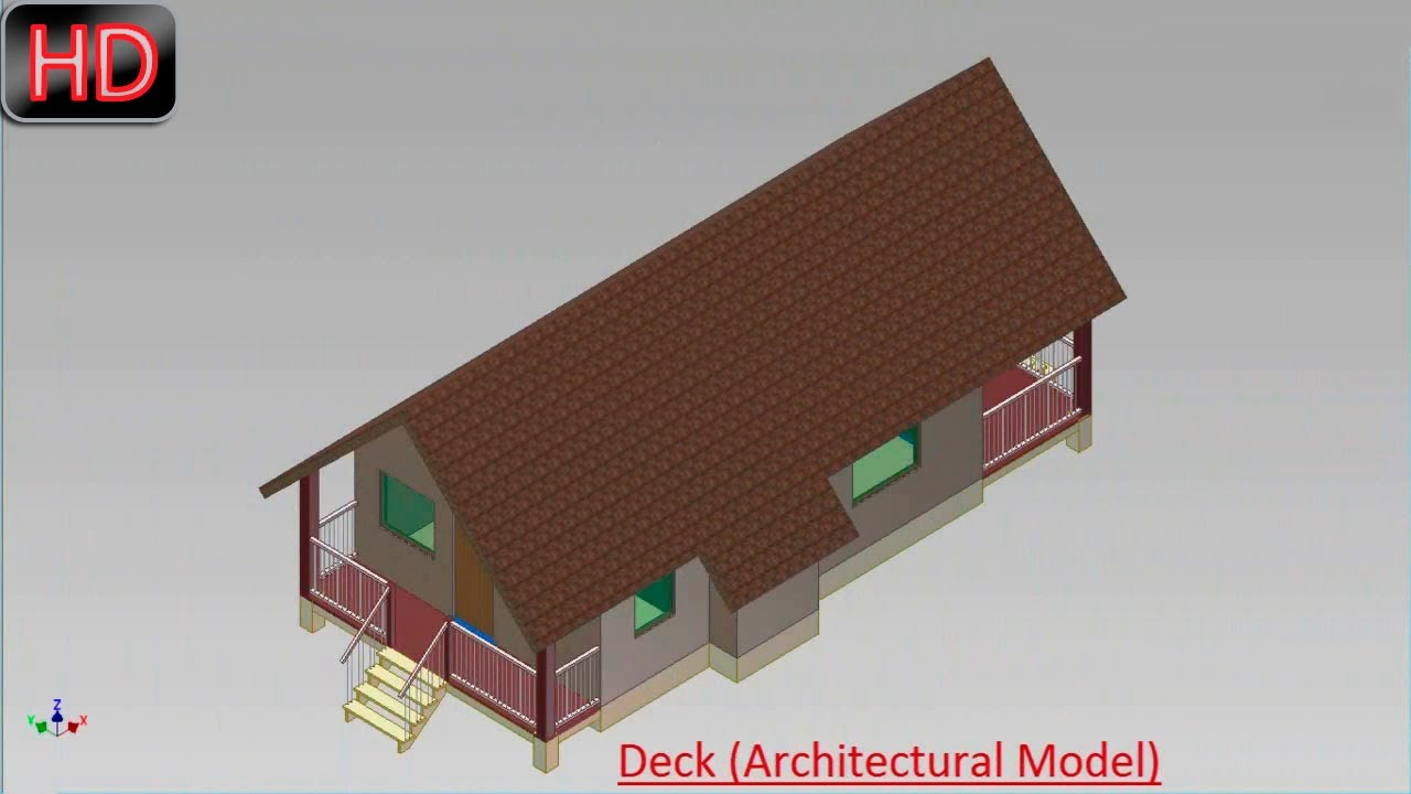 Deck Architectural Model Autodesk Inventor YouTube