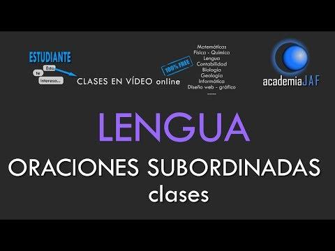 Oraciones Subordinadas y sus clases: sustantivas, adjetivas o de relativo y adverbiales - Lengua