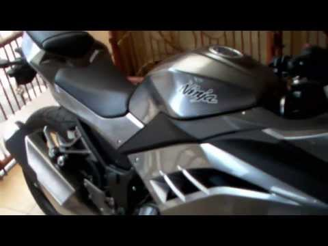 Kawasaki ninja 250R/300R new color 2013 grey review and sound test in HD