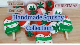 TRÁI DÂU, KEM CÂY Squishy handmade Collection ❤ Noel, Giáng Sinh Christmas [Shop Thảo Tâm handmade]